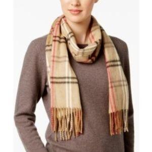 Cejon camel check scarf